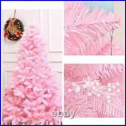 1.2M Cherry Blossom Pink Christmas Tree Decoration Deluxe with LED Light Decor