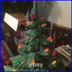21 1977 Vintage Atlantic Mold LARGE Ceramic Christmas Tree Lights