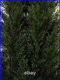 2 Cypress Outdoor Topiary Artificial Plant Tree 50 Cedar Spiral Christmas Light