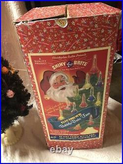 30 SHINY BRITE BUBBLE LIGHT CHRISTMAS TREE Color Liquid withadditional Bulbs