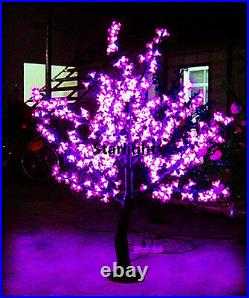 4.2ft Pink LED Cherry Blossom Tree Light Outdoor Christmas Holiday Light 360 LED