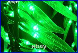 4ft LED Willow Tree Light Outdoor Christmas Light Green LEDs + Green Leaf IP65