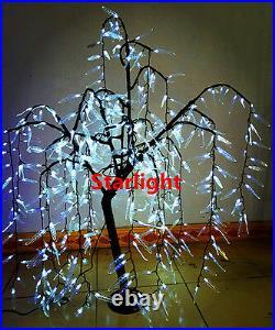 4ft LED Willow Weeping Tree Christmas Light Home Wedding Decor 480pcs LEDs White