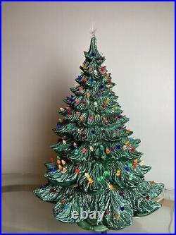 5 Piece Nowells 28 Ceramic Christmas Tree Light Atlantic Mold Musical Base
