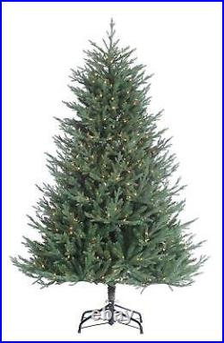 6.5' Ultra Realistic Artificial Christmas Tree with Clear Lights