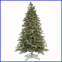 6.5' x 47 Artificial Blue Balsam Fir Christmas Tree with Multi-Color Lights