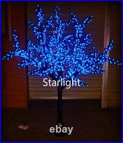 6.5ft Outdoor LED Christmas Light Cherry Blossom Tree Holiday Home Decor Blue