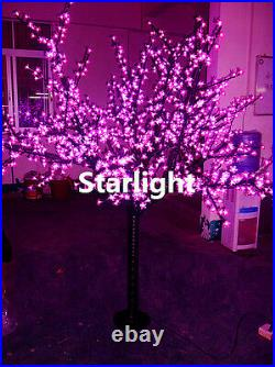 6.5ft Outdoor LED Christmas Light Cherry Blossom Tree Holiday Home Decor Pink