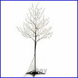 6' Cherry Blossom Tree LED Lights Indoor Outdoor Decor Patio Yard Holiday Decor