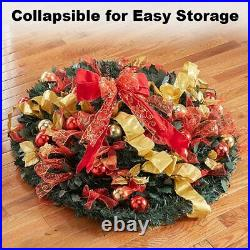 6 Ft Pull Up Decorated & Pre Lit Collapsible Pop Up Christmas Tree 200 Lights