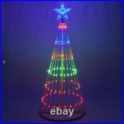 6' Multi-Color LED Light Show Christmas Tree Animated Outdoor Decoration NEW