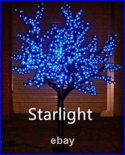 6ft Outdoor Blue LED Cherry Blossom Tree Christmas Light Home Decor Rainproof