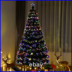 7.5Ft Pre-Lit Artificial Christmas Tree Fiber Optic withLED Lights Home Decoration