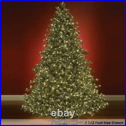 7.5 Foot Medium CLEAR Light World Best Prelit Noble Fir Christmas Tree
