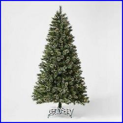 7.5ft Pre-lit Artificial Christmas Tree Full Virginia Pine Clear Lights
