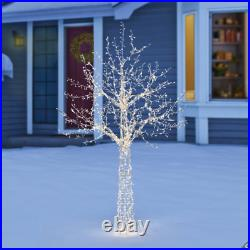 7ft (2.1 m) Christmas Twinkle Tree Of Lights With 1,600 Warm White LED Lights E