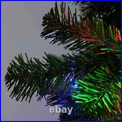 7ft Pre-Lit Spruce Christmas Dcoration Green Tree With 300 LED MultiColour Light
