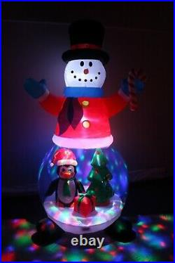 8 Foot Christmas Inflatable Snowman Globe Color LED Lights Penguin Tree Blowup