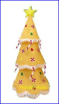 8 Ft GINGERBREAD CHRISTMAS TREE Lighted Outdoor Air Blown Inflatable