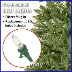 8ft Artificial Hinged Holiday Standing Xmas Christmas Tree + 750 Decor Lights