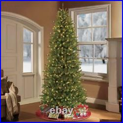 9 ft. Pre-lit incandescent slim fraser fir artificial christmas tree with 8
