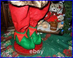 ANIMATED 5 foot SANTA'S ELF w LIGHTED TREE / MUSICAL LIFE SIZE CHRISTMAS RARE