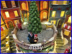 Berkley Jensen Holiday Christmas Village Light Up Animated Music Train Tree