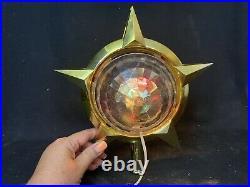 Bradford Celestial Star Rotating Light Mid-Century Atomic Christmas Tree Topper
