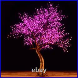 Bright Baum LED Light Cherry Artificial Tree 9-Feet Pink Garden Decor Christmas