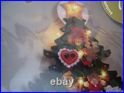 Bucilla Felt Applique Holiday ADVENT Calendar Kit, CHRISTMAS TREE, Lights Up, 85335