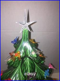 Ceramic Christmas Tree 20 Tall Green Lighted BASE CRAMER Mold Complete