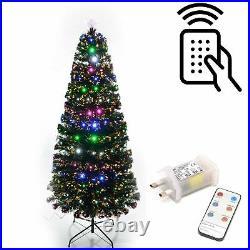 Christmas Tree Pre-Lit Fiber Optic Pine LED Light Xmas Home Decor Galactic 2-6FT