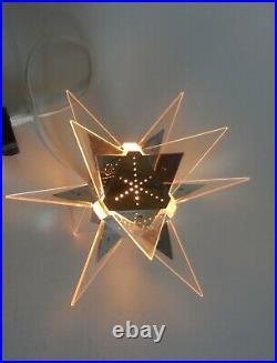 Crystalite Sputnik Christmas tree top light mid century modern atomic space age