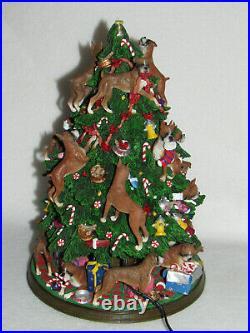 Danbury Mint 13 Lighted Boxer Christmas Tree Complete Bone Star