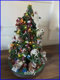 Danbury Mint English Bulldog Lighted Christmas Tree Rare, Retired works