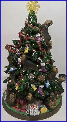 Danbury Mint Yorkshire Terrier (Yorkie) Christmas Tree Lighted