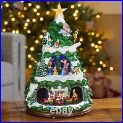 Disney 17.5 Animated Tree Lights Music Rotating Train Christmas Xmas Decoration