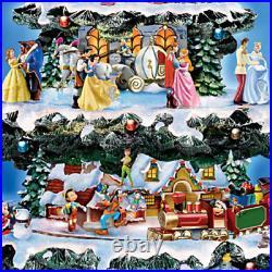 Disney 50 Character Tabletop Christmas Tree Carousel Musical Light Motion Train