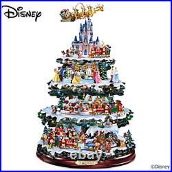 Disney 75 Character Tabletop Christmas Tree Carousel Musical Light Motion Train