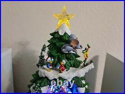 Disney Animated Christmas Tree With Music & LED Lights 17.5 Xmas Decoration