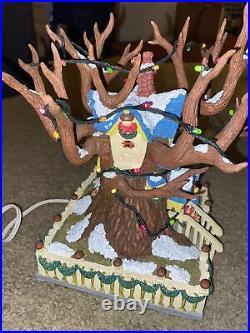 Disney Toontown CHIP & DALE TREE House, Christmas Village Light Up