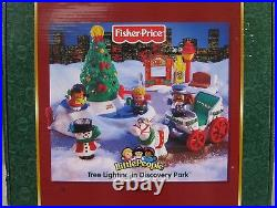 Fisher Price Little People Tree Lighting In Discovery Park Brand New Dated 2004
