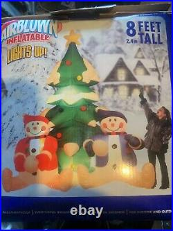 GEMMY 2005 8' Tall Animated SnowMen Lighted Christmas Tree Inflatable
