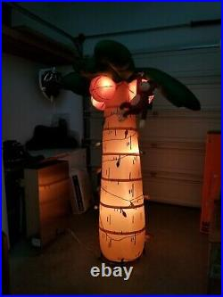 Gemmy Airblown Inflatable Christmas Palm Tree Light Up 6 Feet Tall Monkey