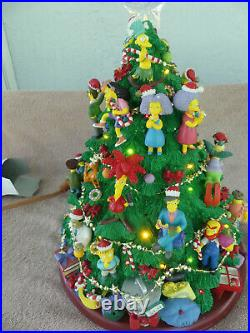 Hamilton Collection Simpsons Lighted Christmas Tree Display New Works