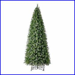 Home Heritage 10 Foot Mahogany Pine Cashmere Prelit Christmas Tree with Lights