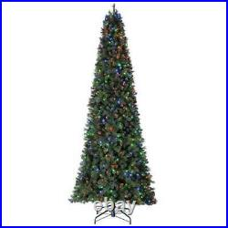 Home Heritage 12' Cascade Cashmere Christmas Tree with Changing Lights (Used)