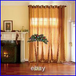 Home Heritage 5 Foot Christmas Fake Palm Tree Prelit with Multi Color LED Lights