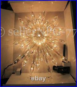 Huge 14 Crystal Star Xmas Tree Topper Nativity Twinkling Lights Twinkle Sparkle