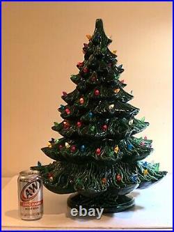 Huge 3 Piece Nowell Ceramic Lighted Christmas Tree